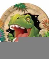 Kinderfeestje dinosaurus bordjes 8 stuks trend