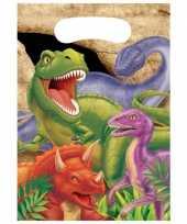 Kinderfeestje dinosaurus feestzakjes 8 stuks trend