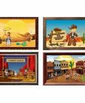 Kinderfeestje western posters trend