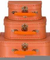 Kinderkamer koffertje pastel oranje 20 cm trend