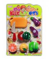 Kinderkeuken speelset fruit 10 stuks trend