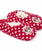 Kinderslofjes disney minnie mouse rood trend