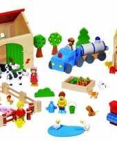 Kinderspeelgoed houten boerderij trend