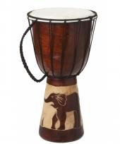 Kinderspeelgoed houten drum 40 cm trend 10081038