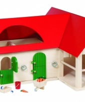 Kinderspeelgoed manege van hout trend