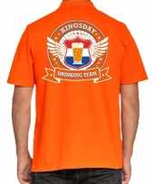 Kingsday drinking team poloshirt oranje voor heren trend