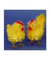 Kip en haan decoratie geel trend