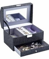 Kistje met spiegel voor sieraden 21 cm trend