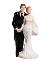 Klassiek bruidspaar taart decoratie 10 cm trend