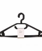 Kleding hangers zwart 10 stuks trend