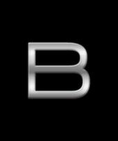 Kleine alfabet stickers letter b trend