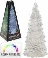 Kleur veranderende led kerstboom 22 cm trend