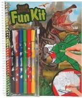 Kleurboek dinosaurus met stiften trend