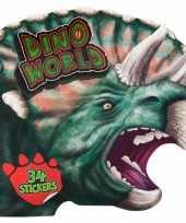 Kleurboek dinosaurussen met stickers trend