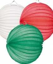 Kleuren lampionnen groen wit rood trend
