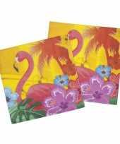 Kleurige hawaii servetten 12 stuks trend