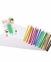 Kleurpakket met potloden en gum trend