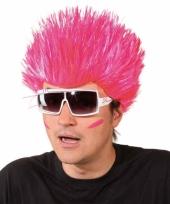 Knal roze pruik voor volwassenen trend