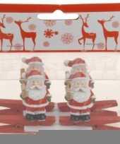 Knijper met kerstman met ster 4 stuks trend