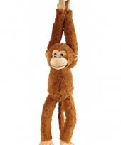 Knuffel apen hangend 65 cm trend