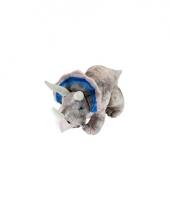 Knuffel dino grijze triceratops 48 cm trend