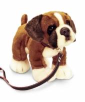 Knuffel hond boxer aangelijnd trend
