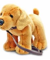 Knuffel hond labrador aangelijnd trend
