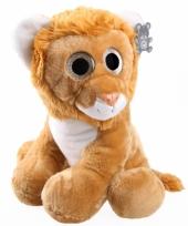 Knuffel leeuw met glitter ogen 40 cm trend
