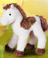 Knuffel paard bruin wit 23 cm trend