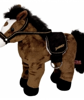 Knuffel pony donkerbruin 30 cm trend