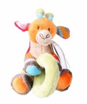 Knuffel rammelaar giraffe giro 11 cm trend