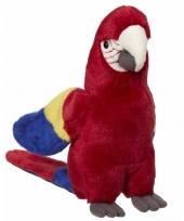 Knuffel vogels papegaai rood 21 cm trend