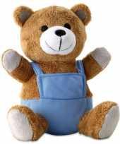 Knuffeldieren beer met blauwe outfit trend