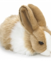 Knuffeldieren konijn bruin wit 18 cm trend