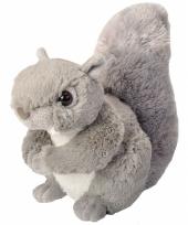 Knuffeldiertje eekhoorn pluche grijs 20 cm trend