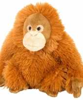 Knuffeldiertje orang utan pluche oranje 20 cm trend