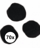 Knutsel materiaal zwarte pompons 7 mm trend