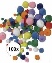 Knutsel pompons gekleurd om te rijgen 100 stuks trend