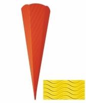 Knutsel schoolzak geel 68 cm trend