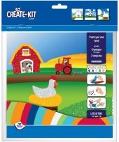 Knutsel set boerderij create kit trend