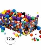 Knutselballetjes assortiment 720 stuks trend
