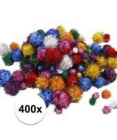 Knutselballetjes glitter assortiment 400 stuks trend