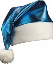 Kobalblauwe kerstmuts glimmend trend