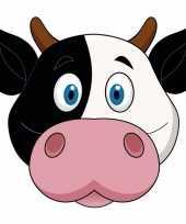 Koeien maskers van karton trend