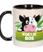 Koeien theebeker zwart wit koetje boe 300 ml trend