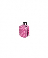 Koffer spaarpot roze schildpad trend