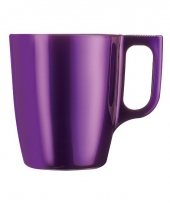 Koffie beker paars trend