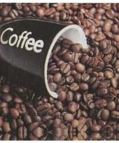 Koffie met bonen servetten 20 stuks trend