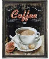 Koffie vintage schilderij van hout trend 10062185