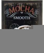 Koffie vintage schilderij van hout trend